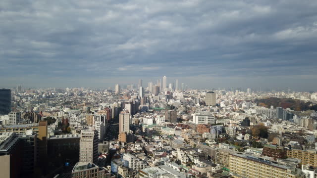 4k タイムラプス : 東京タワーシティの視点 - 斜めから見た図点の映像素材/bロール