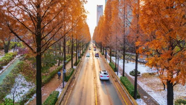 4k Timelapse Traffic of Gangnam City in Seoul,South Korea video