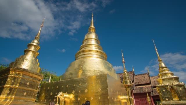 4k timelapse, Wat Phra Sing in Chiang mai, Thailand. video