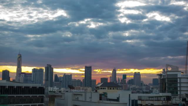 4k TL : Cityscape in sunrise, Bangkok video