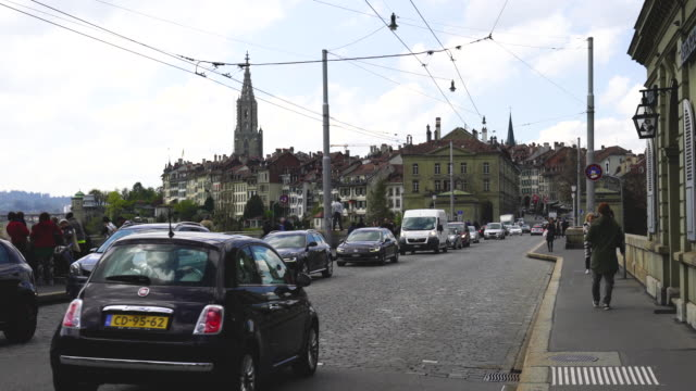 4k Trams and bus in Bern Switzerland
