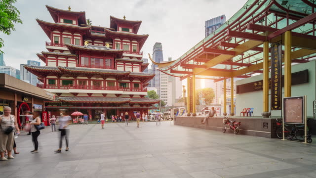 4k UHD Timelapse at Buddha Tooth Relic Temple in China town ,Singapore 4k UHD Timelapse at Buddha Tooth Relic Temple in China town ,Singapore buddha stock videos & royalty-free footage