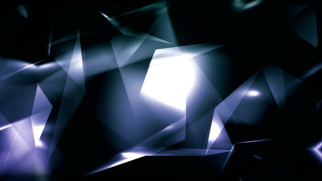 4k video gray blue abstract geometrical glass - diamond triangles loop able background