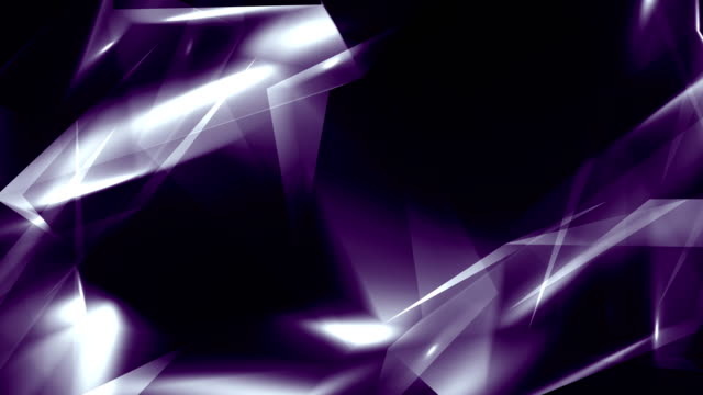 4k video gray purple abstract geometrical glass - diamond triangles loop able background