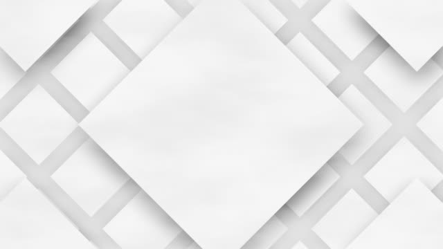 4k White Tile Movement Animation Background Seamless Loop. video