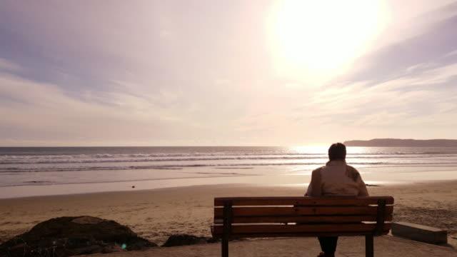 4k winter ocean sunset video