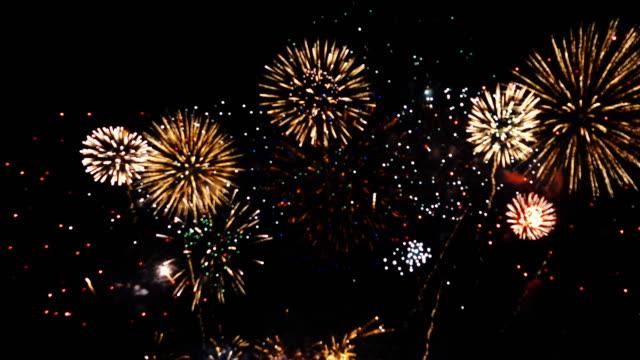 4k: Wonderful Firework background