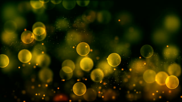 4k yellow abstract bokeh particle background. 30 seconds seamless loop. have another color. check my page video