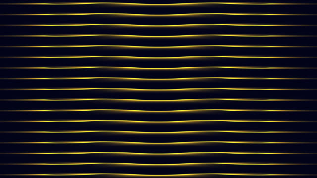 4k Yellow Wave Animation Background Seamless Loop