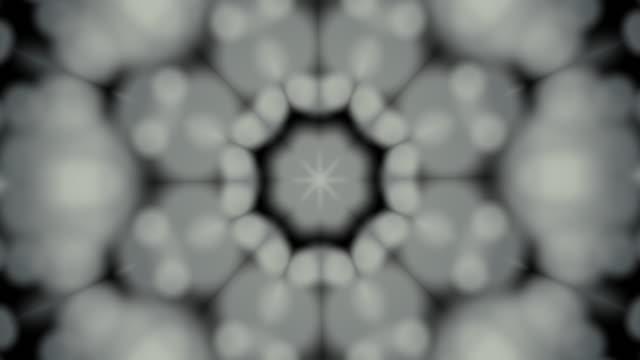 vídeos de stock e filmes b-roll de 4k:abstract kaleidoscope - mosaicos flores