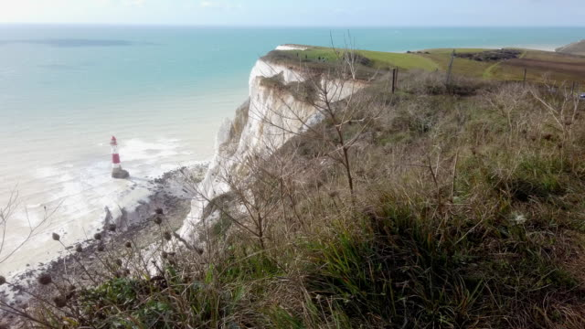 4k:faro di beachy head - south downs video stock e b–roll
