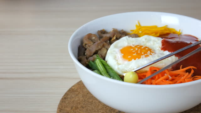 4K:Bi Bim Bap,korean food video
