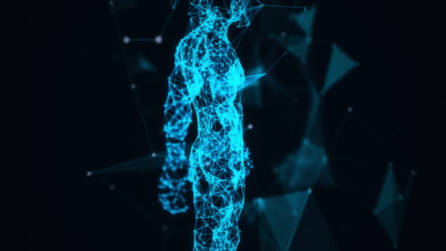 4K-Blue Human system,Science man