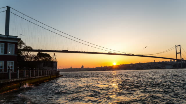 4K:Bosphorus Bridge. **Time Lapse** video