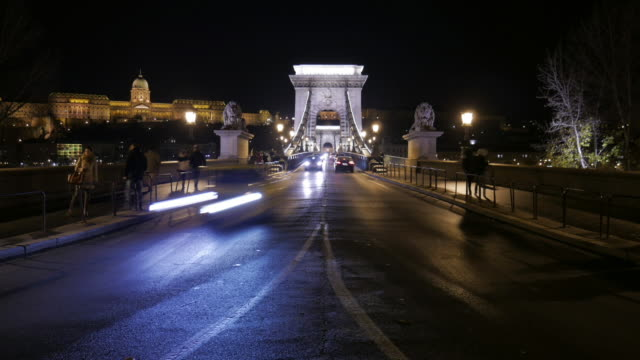 4K:Budapest Hungary Chain bridge at night time-lapse movement Budapest Hungary Chain bridge at night time-lapse movement with 4k resolution hungary stock videos & royalty-free footage