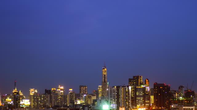 4K:Central big city at night video