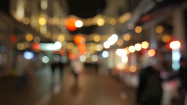 4 K: Weihnachts-Straße im Zentrum der Stadt am. Dezember – Video