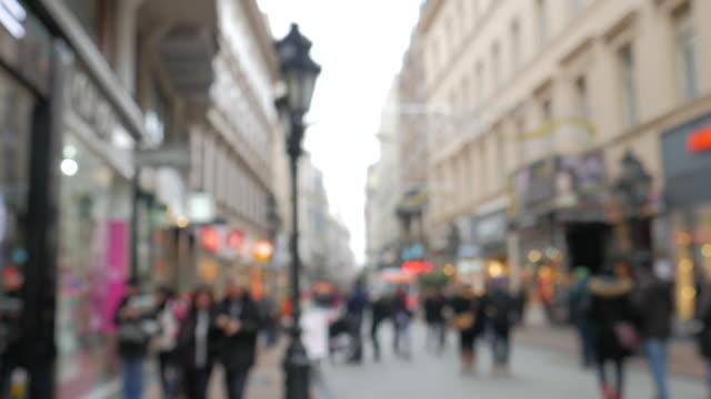 4K:Chrismas street in the central city on December video