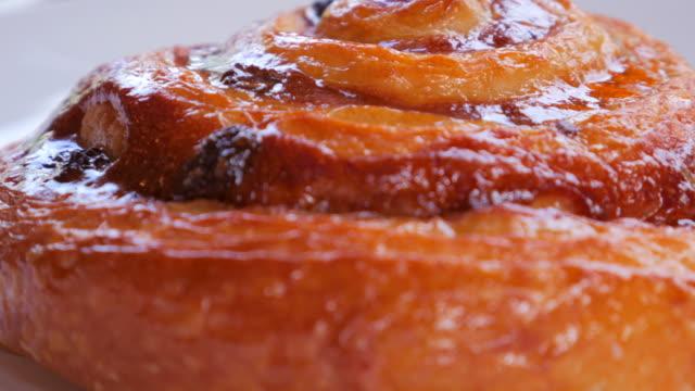 4K:Close-up:Cinnamon Croissants video