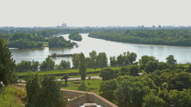 4K:Crossroads of the Sava and Danube rivers; Belgrade Crossroads of the Sava and Danube rivers; Belgrade senegal stock videos & royalty-free footage