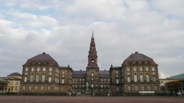 4K:Denmark , Copenhagen Christiansborg Palace and houses the Danish Parliament video