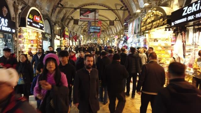 4k:grand bazaar a istanbul - grand bazaar video stock e b–roll