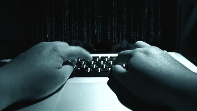 4K:Hacker accessing private data video