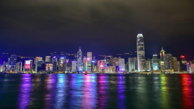 4k.Hong Kong Island. video