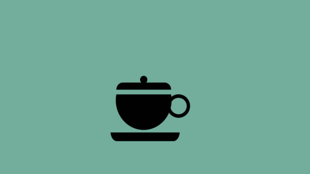 4k:Love coffee design, video animation video