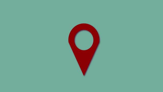 4k:map marker green screen shadow loop red - położenie filmów i materiałów b-roll