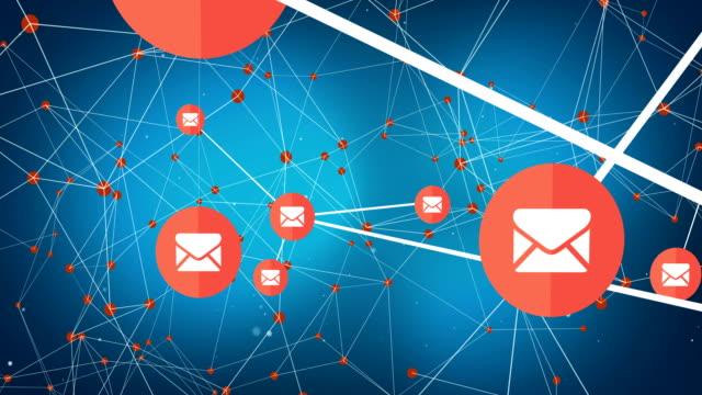 4k-nachricht netzwerk verbinde die punkte - e mail stock-videos und b-roll-filmmaterial