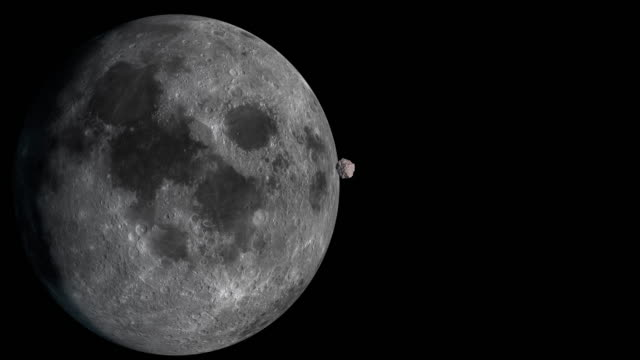 4K:Moon ・隕石 ビデオ