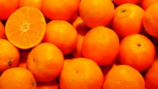 4K:Orange in the local market video