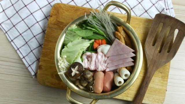 4K:Prepare Korean food,Top view video