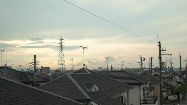DCI 4K,Residence area and sky in the morning. Kakogawa,Hyogo,Japan video