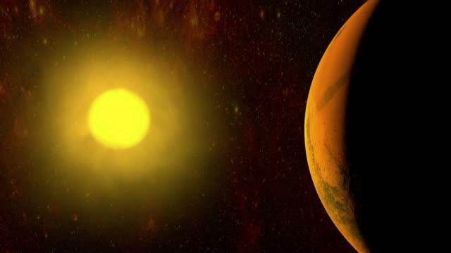 4K:Rotating Planet Mars video