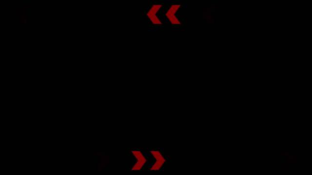vídeos de stock e filmes b-roll de 4k:seamless red warning alert word on black screen - vírus informático