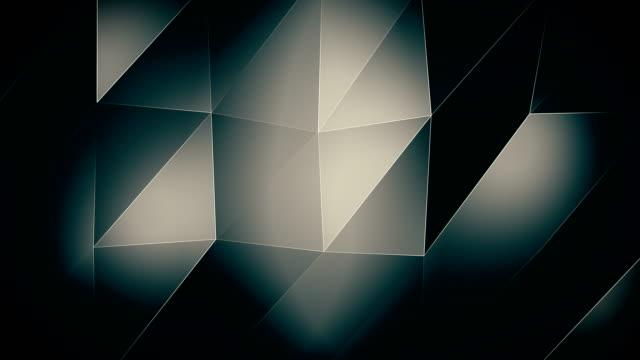 4K-Shiny-SilverTriangle waves Background video