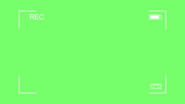 4 k :  einfaches video-kamera anzeige auf einem grünen bildschirm anzeigen - überwachungskamera stock-videos und b-roll-filmmaterial