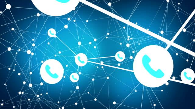vídeos y material grabado en eventos de stock de red telefónica de 4 k conectar los puntos - centro de llamadas