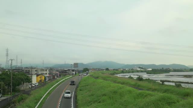 4 k 、銀行の川 morning.kakogawa 、兵庫県(日本) - 土手点の映像素材/bロール