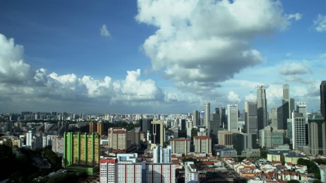 vídeos y material grabado en eventos de stock de 4 k :  lapso de tiempo de nubes en la ciudad con vista panorámica. - oakland