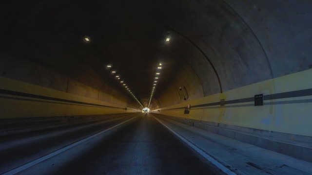 4K.Time lapse Road tunnel in soul city of korea video