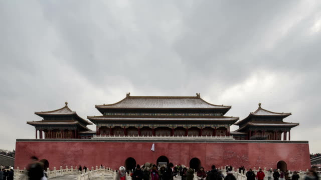 4k-time lapse-the forbidden city - beijing, china - ming video stock e b–roll