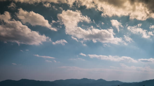 4K:Time-lapse of blue sky and cloudy video