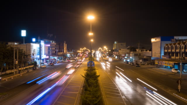 4K:Traffic in the night,Time lapse