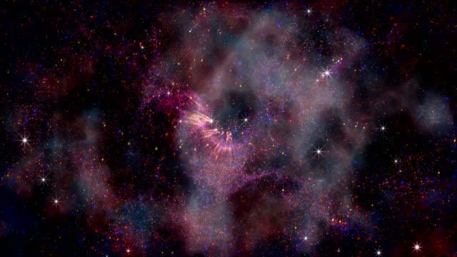 4k-reise durch den nebel (zoom in sternen) - weltraum und astronomie stock-videos und b-roll-filmmaterial