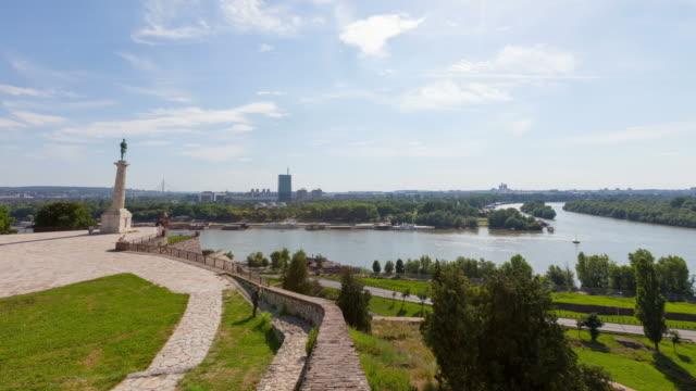 4K:Victor Monument in Belgrade, Serbia Victor Monument in Belgrade, Serbia fort stock videos & royalty-free footage