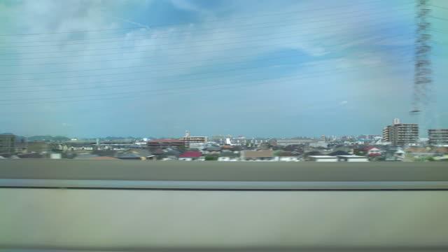 4 k 、ビューから新幹線 window.japan ます。 - 列車点の映像素材/bロール