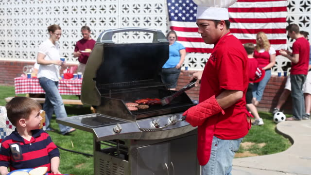 4th of July Barbecue  family 4th of july stock videos & royalty-free footage